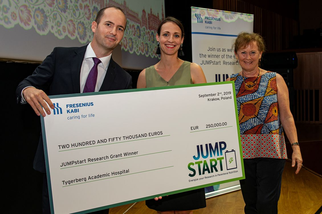 awards ceremony for the jump start research program on parenteral nutrition